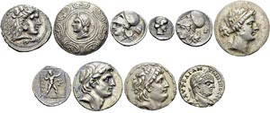 Lot of 13 coins: Macedon, ...
