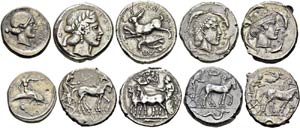 Lot of 24 coins: Umbria, Tuder, ...