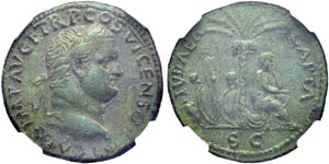 Titus, 79-81. As, 77-78, Lugdunum. ...