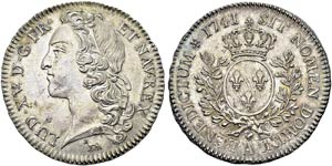 Louis XV, 1715-1774. ½ Ecu au ...